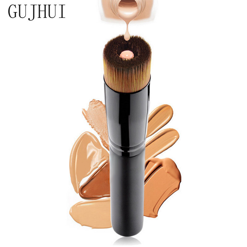 GUJHUI Women Professional Cosmetics Concave Liquid Foundation Brush Powder Foundation Highlighter Contour Tool Multifunction Bob