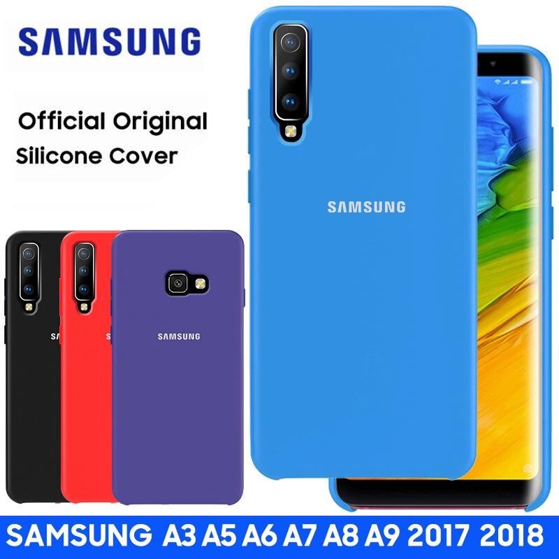 SAMSUNG A5 2017 étui Original officiel en Silicone couverture souple Samsung Galaxy A3 A7 2017 A6 A7 A8 A9 Plus 2018 étui
