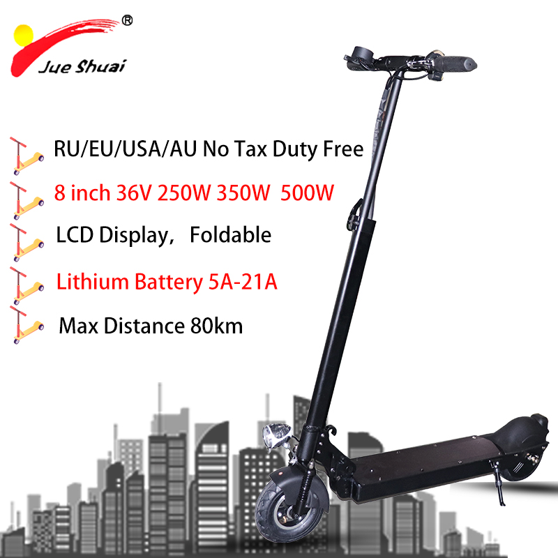 8 inch 36V 250W <font><b>350W</b></font> 500W <font><b>Electric</b></font> <font><b>Scooter</b></font> 5A Lithium Battery Rear Motor <font><b>Electric</b></font> Skateboard Rear Brake Monopattino Elettrico image