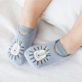 Newborn Baby Anti-slip Socks Boys Girls Infant Cotton Cute Sock Children Non Slip Cartoon Animal Warm - discount item  49% OFF Baby Clothing