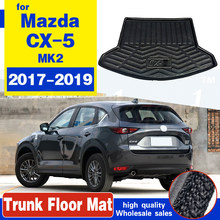 Cargo Liner Boot Tray Rear Trunk Cover Matt Mat Floor Carpet Kick Pad Mud Non-slip For Mazda CX-5 CX5 MK2 2017 2018 2019 2nd(China)