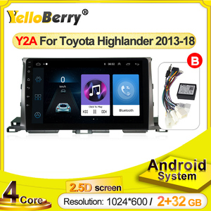 Car Multimedia 2 Din Android for Toyota Highlander GPS 2013 2014 2015 2016 2017 2018 Car Stereo 2G RAM 32G ROM Tape Recorder