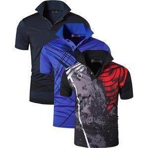 Image 4 - Jeansian 3 חבילת גברים של ספורט טי פולו חולצות POLOS Poloshirts גולף טניס בדמינטון יבש Fit קצר שרוול LSL195 PackF