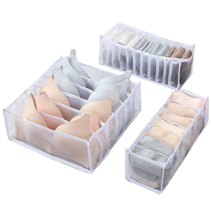 3Pcs Underwear Bra Organizer Storage Box 5 Colors Drawer Closet Organizers Boxes For Underwear Scarfs Socks Bra Dropship