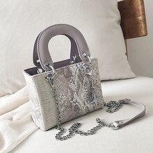 High quality PU female bag shoulder large capacity imitation snakeskin pattern Messenger bags womens discount hot