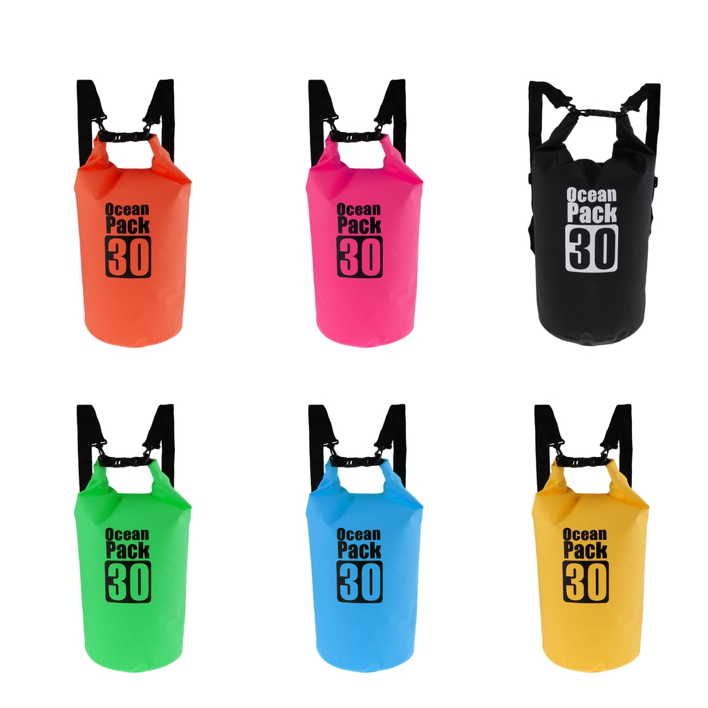 30L Large Waterproof Dry Bag Shoulder Backpack For Kayak/Boat/Canoeing/Fishing/Sailing/Camping/Hiking/Travel/Floating