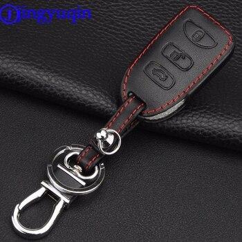 Jingyuqin пульт дистанционного управления 3 кнопки кожаный чехол для ключей для Hyundai KIA Tuscon Elantra Rio Sportage Rondo Accent