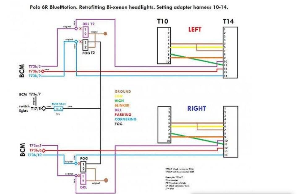 b5 passat wiring diagram xenon for vw polo 6r halogen lamp modification hid xenon headlight 10 to  vw polo 6r halogen lamp modification