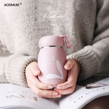 330ML Thermos Bottle Stainless Steel Thermal Cup Thermomug Water Bottle Vacuum Flasks Water terms for termo Animal mug bidon cheap AODMUKI Thermos Cup Mini Stocked Eco-Friendly Lovers Vacuum Flasks Thermoses Plastic Belly Cup CE EU 12-24 hours Pink Green Gold Fruit Green