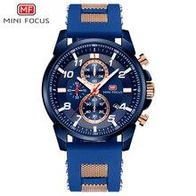 MINI FOCUS orologio da polso da uomo impermeabile moda di lusso di marca orologio sportivo orologio da polso da uomo al quarzo Relogio Masculino cinturino in Silicone
