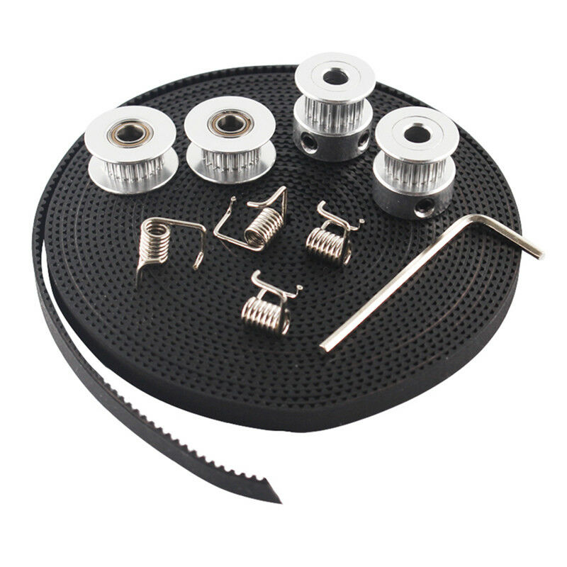 Brand new 2X GT2 Pulley 20 Teeth Bore 5mm + GT2 6mm Timing Belt & 2X Idler 4X Tensioner F8M6 3D Printer Parts Replacement Kit image
