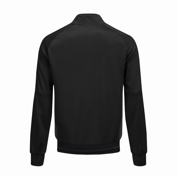 Black And White With Pattern Sports Jackets Autumn And Winter Outdoor Clothing Football Training Long-sleeve Suit Team Jersey Cu