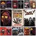 Металлический знак рок-группы, металлический винтажный оловянный плакат, Настенный декор для бара, паба, мужской пещеры, декоративная тарел...