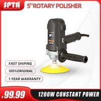SPTA 25mm 125mm 900W Rotary Polisher Car Polisher RO Polisher Car Waxing And Polishing Power Tool with Sponge Polishing Pads Set