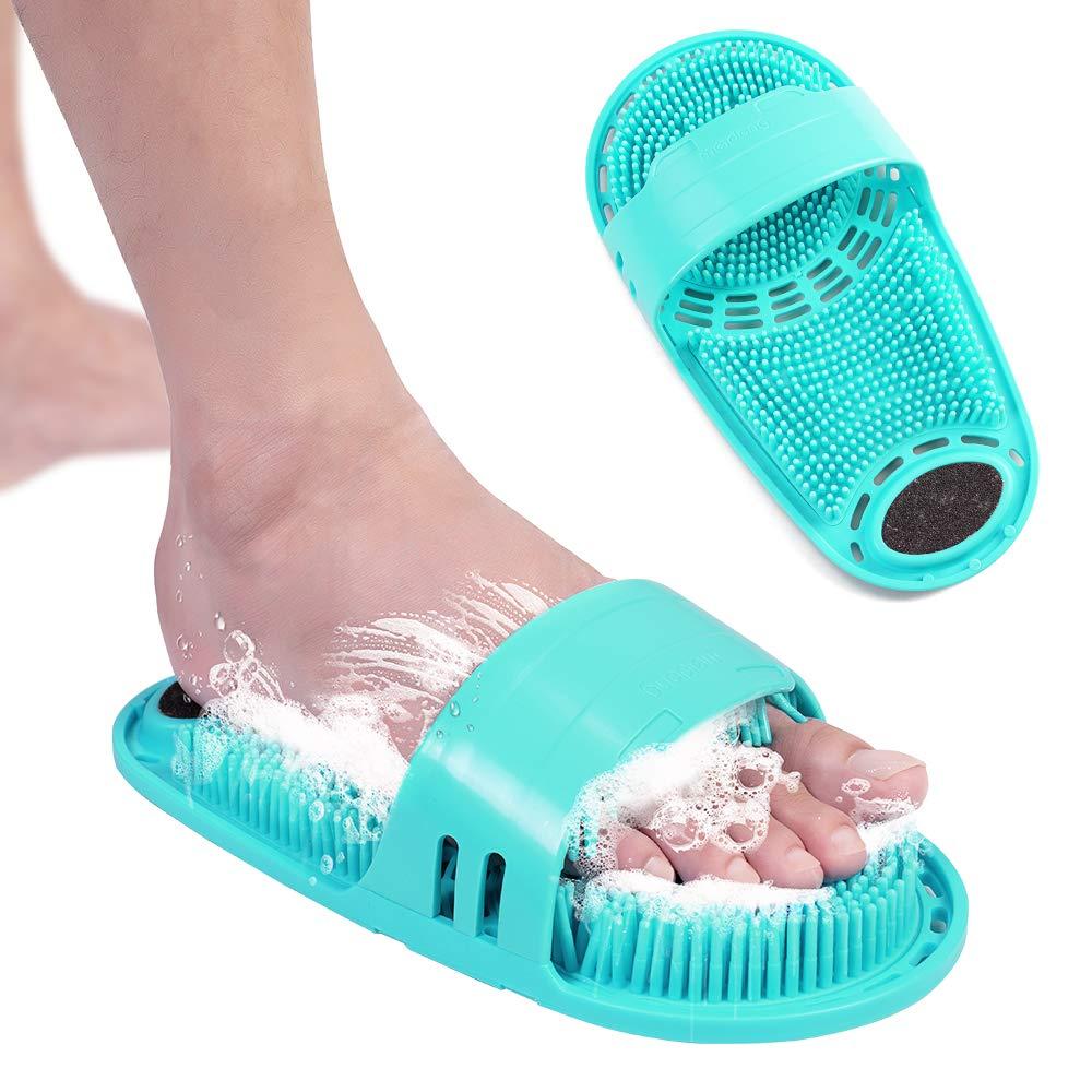 Silicone Bath Massage Cushion Brush For Lazy Wash Feet Clean Dead Skin Bathroom Artifact Back Cushion Shower Foot