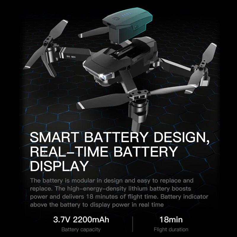 ZWN SG907 SG901 Drone GPS avec Wifi FPV 1080P 4K HD double caméra flux optique quadrirotor suivez-moi Mini Dron VS SG106 E520S - 6