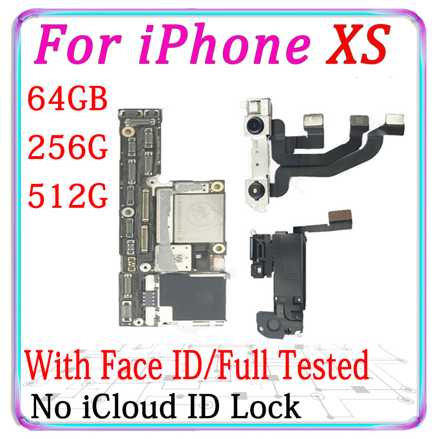 Iphone Xs Unlocked | Original Unlocked For IPhone XS Motherboard With / Without Face ID Logic Board For IPhone X S With Chips IOS System With Chips