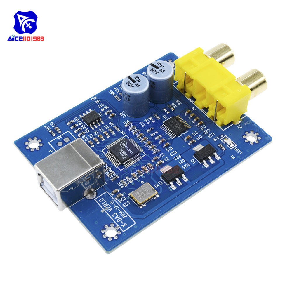 Original XMOS PCM5102 TDA1308 USB decoder board USB DAC 384KHZ//32bit
