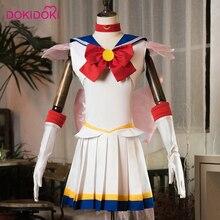 DokiDoki Anime Cosplay  Sailor Moon Tsukino Usagi Cosplay Costume Women Sailor Moon Uniform Cute Dress Costume Tsukino Usagi the art of usagi yojimbo