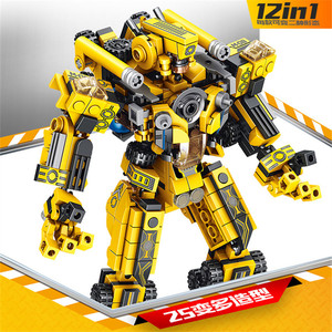 Image 2 - 12 In 1 Transformation Engineering Vehicle Military Robot DIY Legoed Model Building Blocks Kit Education Puzzle Toys Kids Gifts