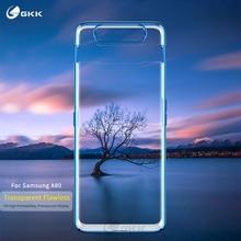 GKK Caso Transparente Chapeamento de Luxo Original para Samsung A80 Proteção Integral Caso Capa Dura para Samsung Galaxy A80 Fundas Coque