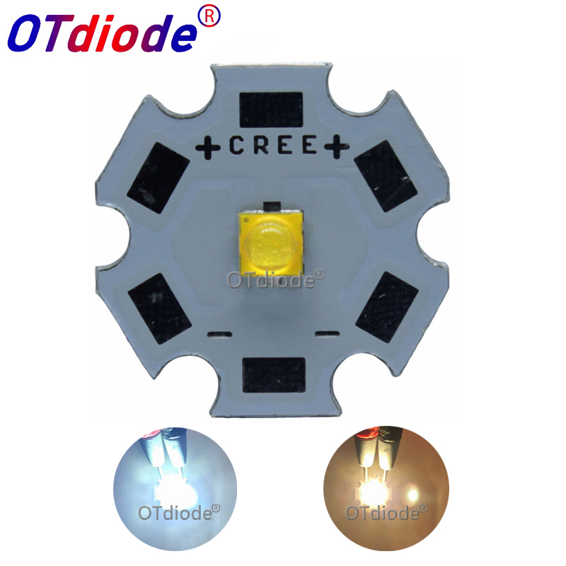 5pcs Cree Xlamp XP-G3 Series XPG3 4A S3 4500K-4800K  LED Chips LEDs Diode Cool White Emitter With 20mm 16mm 14mm 8mm PCB
