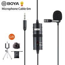 BOYA BY M1 3.5mm אודיו וידאו שיא Lavalier דש קליפ מיקרופון עבור iPhone אנדרואיד Mac Vlog מיקרופון עבור DSLR למצלמות מקליט