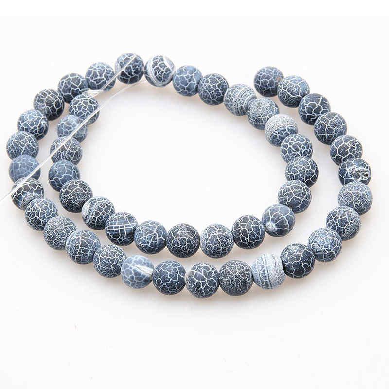 טבעי פנינה חרוזים רוז ורוד קוורץ turquois לבה אבן עגולה חרוזים עבור תכשיטי ביצוע צמידי Diy אביזרי תפירה