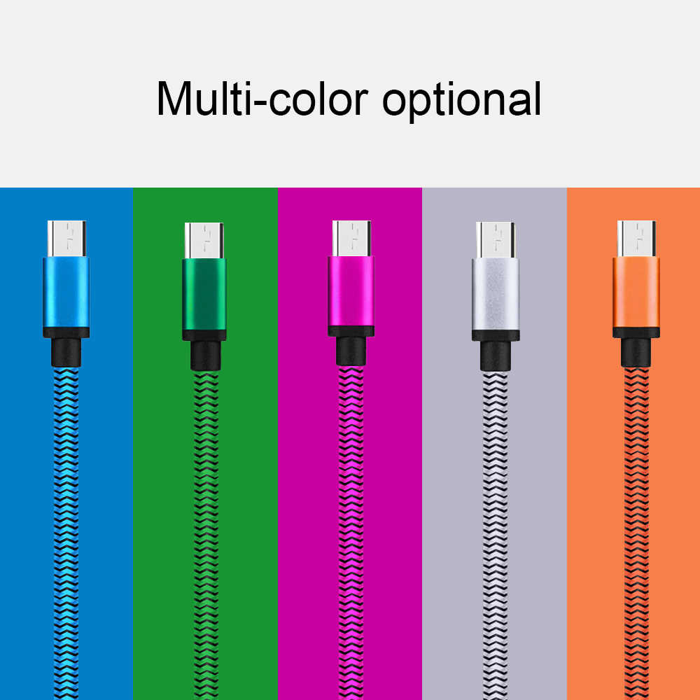 1m 2m Micro USB Type C Mobile Phone Cable For Samsung A50 S10 For Xiaomi Redmi Note 8 8T Andorid Phone Charging Cord Wire
