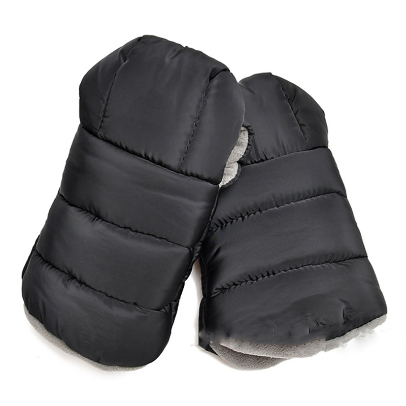 Warm Muffs 212,Wind And Water-Resistant Stroller Gloves With Universal Fit,Best For Freezing Winter Conditions,(Black,One Size,S