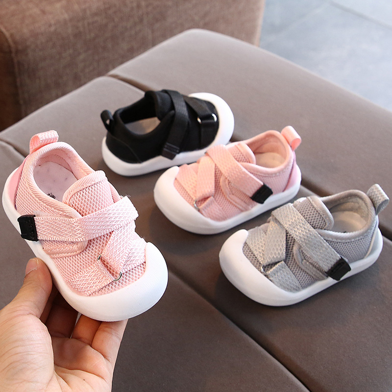 Infant Toddler Shoes 2019 Autumn Girls Boys Casual Shoes Breathable Mesh Non-slip Kid Baby First Walkers Shoes