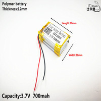 Liter energy battery Good Qulity 3.7V,700mAH,122030 Polymer lithium ion / Li-ion battery for TOY,POWER BANK,GPS,mp3,mp4