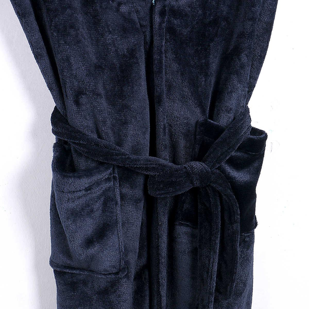 HIRIGIN degli uomini di Inverno Caldo Vestaglie Spessore Allungato Scialle Peluche Accappatoio Kimono Vestiti A Casa A Maniche Lunghe Robe Coat vestaglia homme