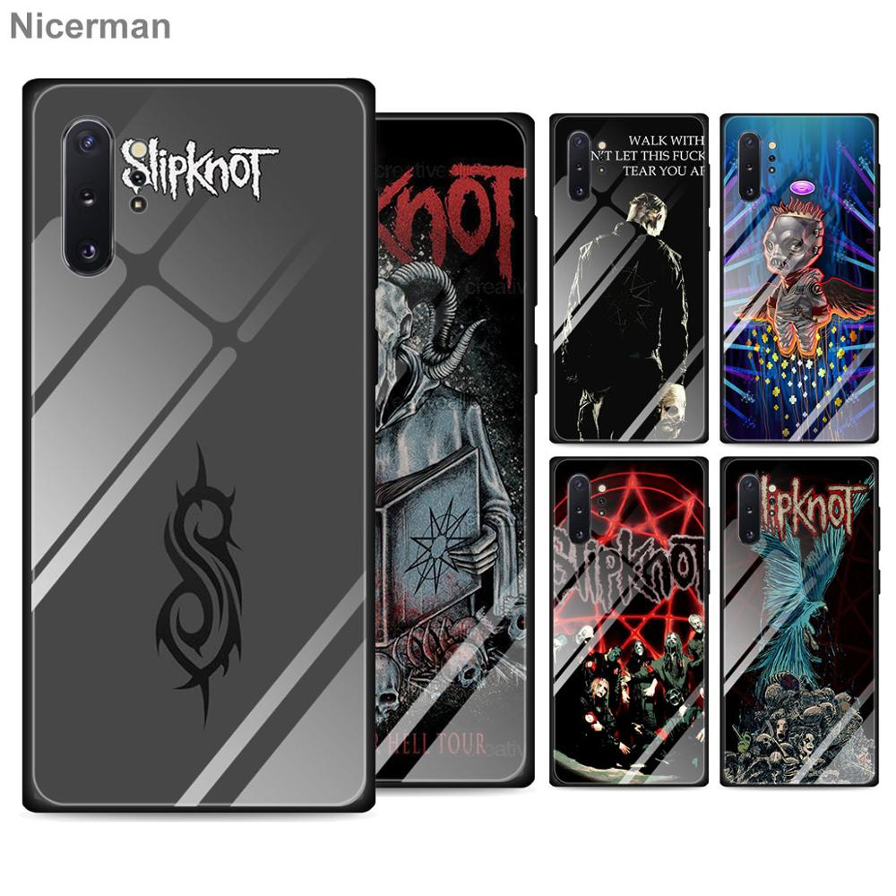 Slipknot Clown Corey Taylor Tempered <font><b>Glass</b></font> <font><b>Cases</b></font> for <font><b>Samsung</b></font> Galaxy S10 S20 Ultra S8 S9 Plus S10e Note 9 10 Plus <font><b>A50</b></font> A30 Cover image