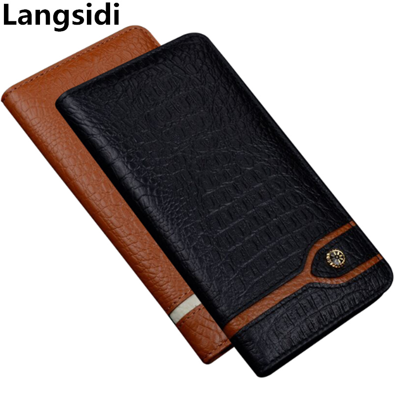 Business genuine leather magnetic phone case for Samsung Galaxy A60/Samsung Galaxy A70 phone holster standing phone bag case