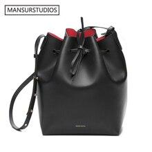 Новейшая сумка мешок MANSURSTUDIOS, женская сумка через плечо Mansur из натуральной кожи, Дамская кожаная сумка через плечо Gavriel, бесплатная доставка