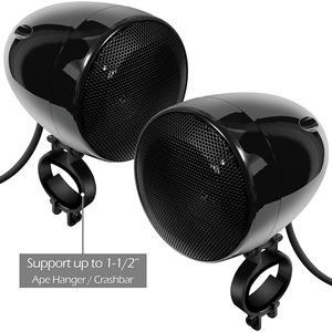 Image 5 - Aileap 1000 Вт мотоцикл аудио 4CH усилитель лодка Колонки Системы, поддержка Bluetooth, USB, AUX, FM радио, SD карты, проводное управление