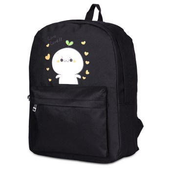 Simple Men Women's Small Cotton Canvas Fashion Backpack Shoulder School Bag