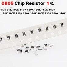 200 Chip de resistor SMD 0805 1% K 91 82 Pçs/lote K 100K 110K 120K 130K 150K 160K 180K 200K 220K 240K 270K 300K 330K 360K 390k 1/8w