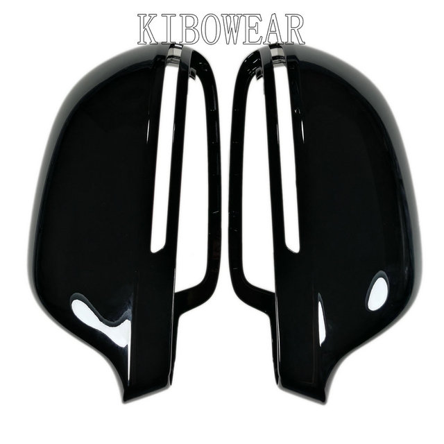 $ US $38.78 Black Side Mirror Covers Cap for Audi A6 C6 4F A4 A5 B8 8K Q3 SQ3 A8 D3 S4 S5 S6 S8 door wing 2008 2009 2012 2015