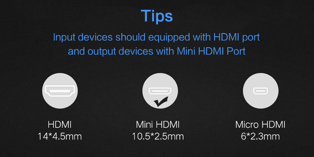 Hca786def65f748ffb88ad14f5fc13288h 1080P 3D Effect Mini HDMI to HDMI Cable High Speed Adapter With Gold Plated Plug For Camera Monitor Projector Notebook