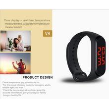 Inteligentna bransoletka termometr bransoletka Smartwatch z opaską monitorowanie temperatury ciała inteligentny termometr bransoletka Fastshipping