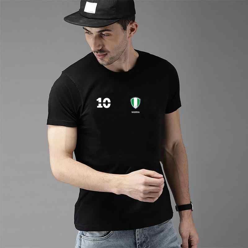 Vintage Nigeria Soccer Jersey 2018 Tee Shirt S-78xl Anti-Rughe Raglan Esilarante Gents T Shirt Tee