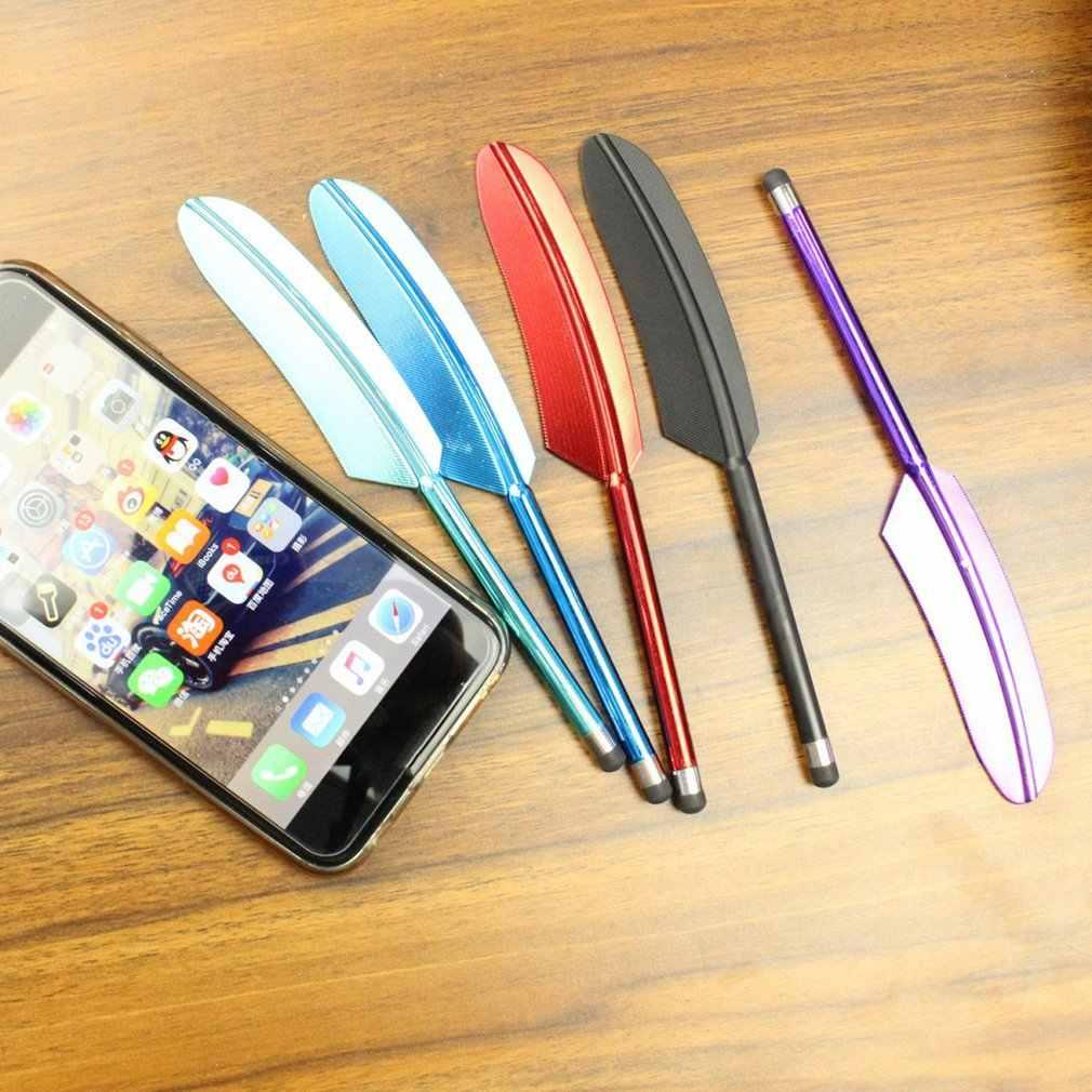 UV Mạ Lông Vũ Màn Hình Cảm Ứng Bút Điện Dung Bút Cảm Ứng Cho Điện Thoại Thông Minh Máy Tính Bảng Dành Cho iPad Điểm Tròn Mỏng Đầu