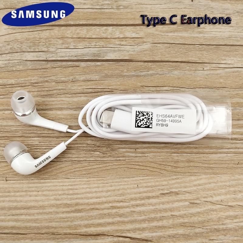 Samsung Note 10 20 Type C проводные наушники с микрофоном и регулятором громкости USB-C гарнитура для Galaxy S20 Plus S20 Note 20 Ultra A8S A80