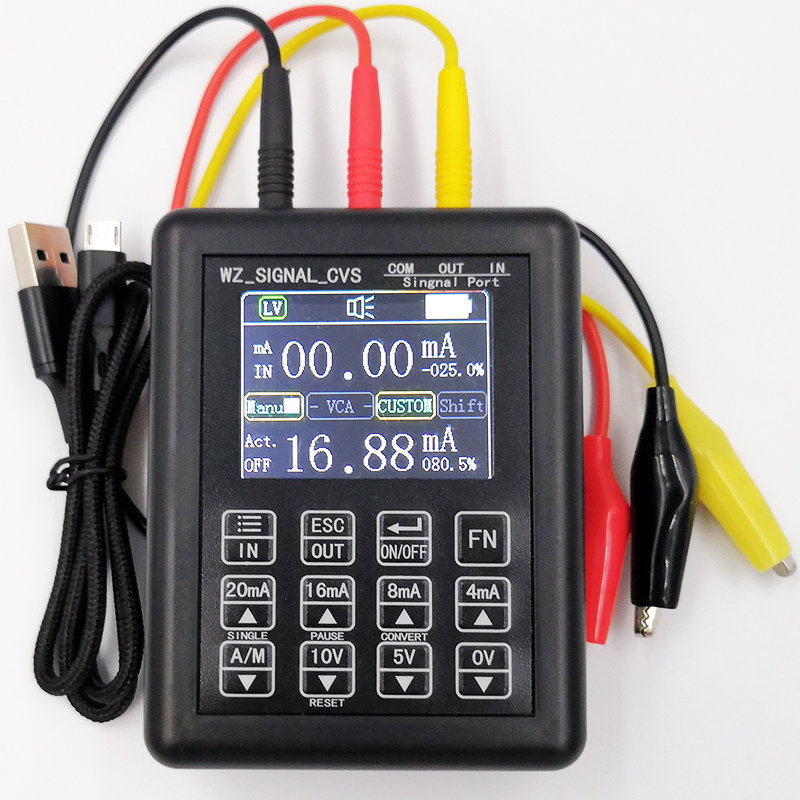 Fonte atual constante 0-20ma do calibrador do sinal do processo do gerador de sinal da precisão 4-20ma 0-10 v