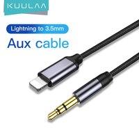 KUULAA AUX Cable Jack de 3,5mm para Cable de rayo para iPhone 12 Pro Max Mini 11X8 altavoz Cable de Adaptador de Audio