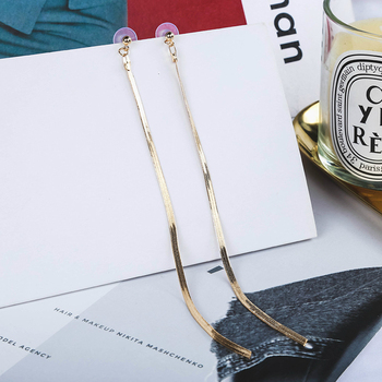 Korean Earrings Jewelry Earrings For Women Metal Fine Chain Fashion Earrings Trendy Statement Earrings Long Tassel Earrings image