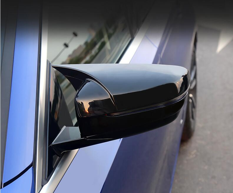 2PCS Car ABS Carbon Fiber Rear Paste Side Mirrors Rearview Cover Trim For BMW 3 Series G20 G28 2019 2020 Year Mirror & Covers     - title=
