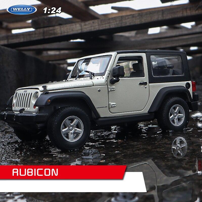 WELLY 1:24 Jeep Wrangler белый жесткий автомобиль сплав модель автомобиля Моделирование Украшение автомобиля коллекция Подарочная игрушка Литье под ...